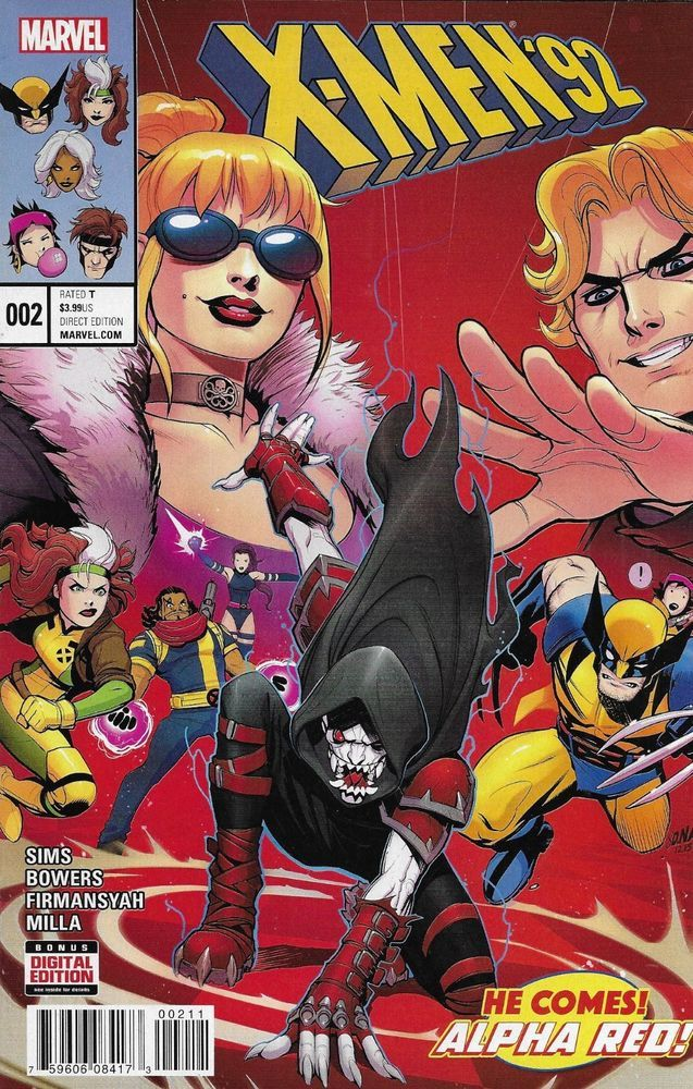X Men 92 Comic Issue 2 Modern Age First Print 2016 Sims Bowers Firmansyah Milla With Images Marvel Comics Covers X Men Marvel Comics