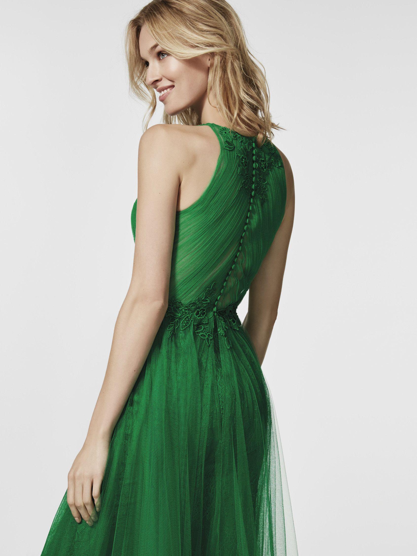 Imagen del vestido de fiesta verde (62059). Vestido GLACISE largo ...