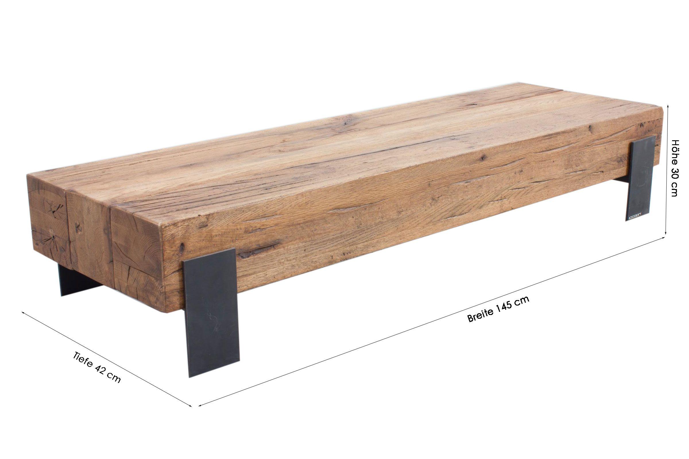 Holzbalken Couchtisch Couchtisch Loungetisch Glascouchtisch Tisch