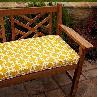 Penelope Yellow 60 Inch Outdoor Bench Cushion Gotcha Yellow