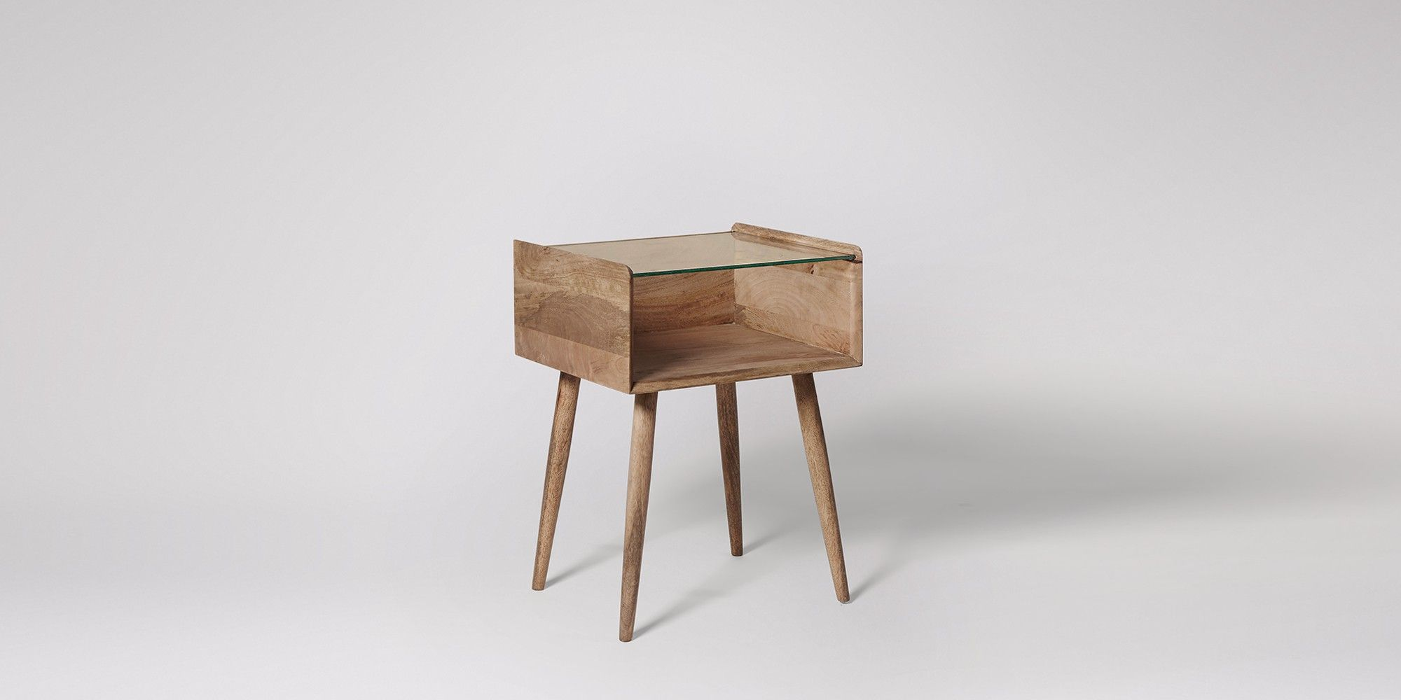 Genoa Mango Wood Bedside Table Swoon Editions