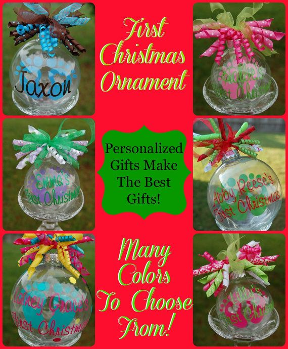 Floating Baby's First Christmas OrnamentSmall by lyricalletters, $8.00