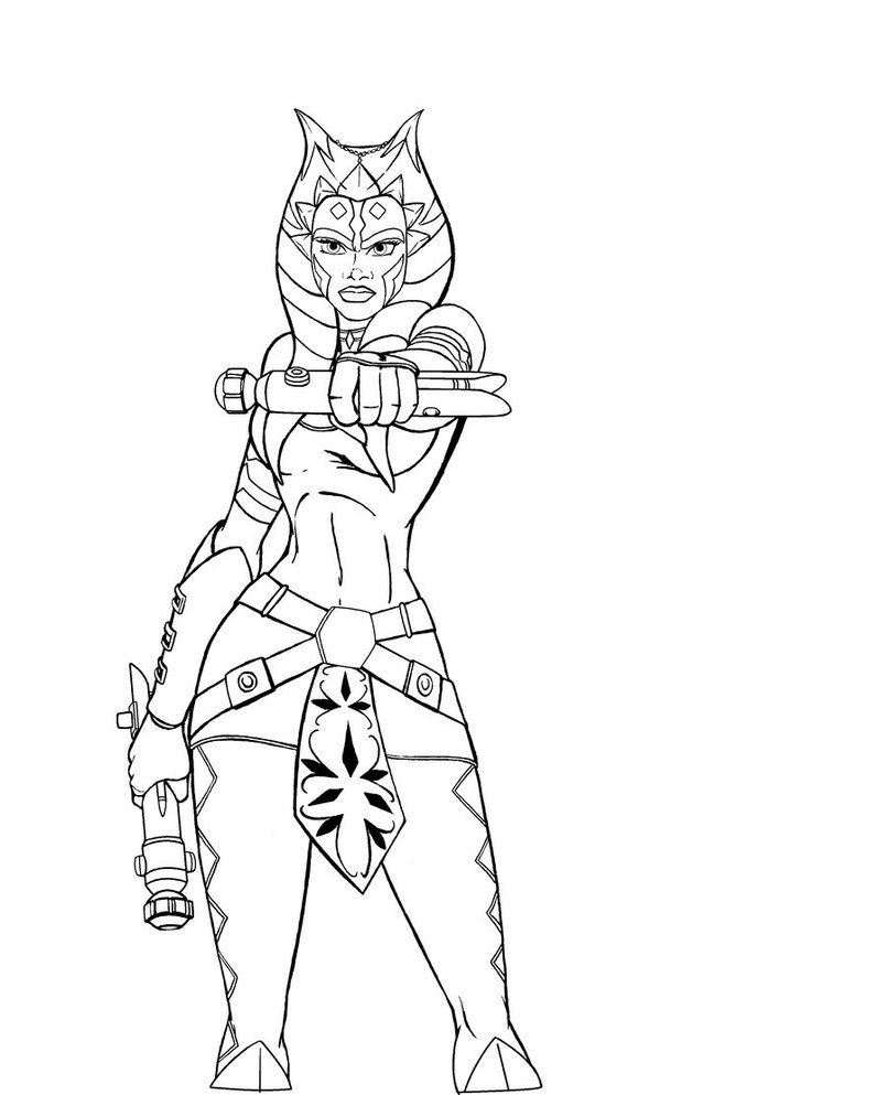 Ahsoka new design lineart by JosephB222 | Star wars art | Pinterest ...