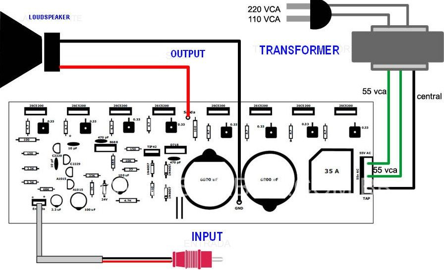 400w Power Amplifier Connection