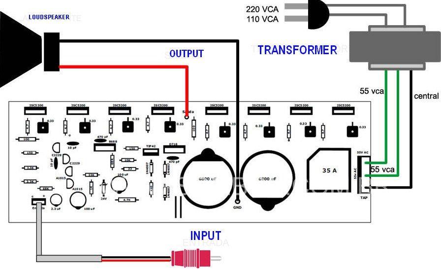 400 Watt 70 Volt Amplifier Schematic Pcb Layout Design