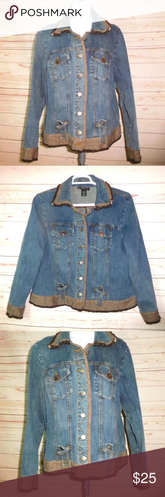 Venezia By Lane Bryant Denim Jean Jacket 14 16 Denim Jean Jacket Clothes Design Lane Bryant [ 1740 x 580 Pixel ]