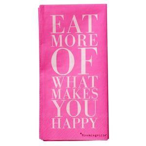 Servietter Eat more of.. Pink