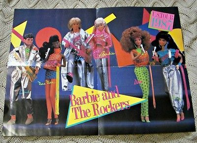 Barbie and the Rockers 1987 Fan Club Poster Vintage