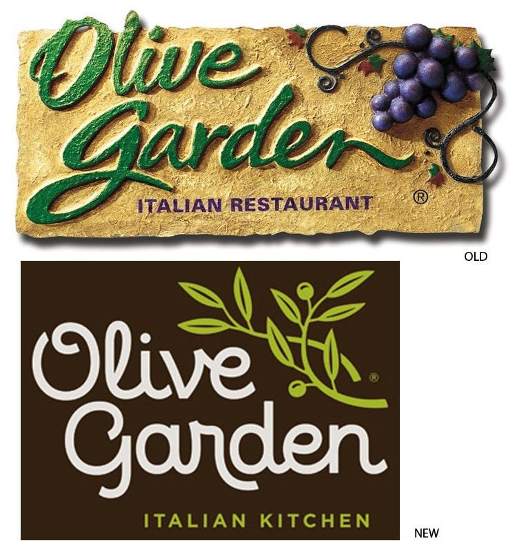 New Olive Garden Logo Goes Flat Olive garden logo, Olive