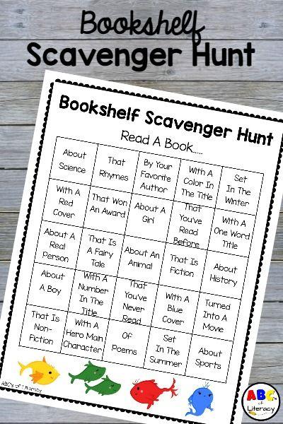 Bookshelf Scavenger Hunt