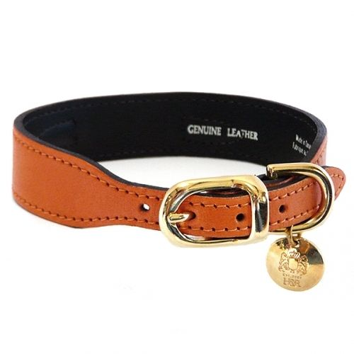 Leopard Skin Jasper Leather Dog Collar is part of Leather Dog Collars With Gemstones Jasper - 8  at the buckle  A comfortable neck measurement of 12  would be a 12   14  collar  A comfortable neck measurement of 15 5  would be a 16   18  collar  Handcrafted in Ontario, Canada