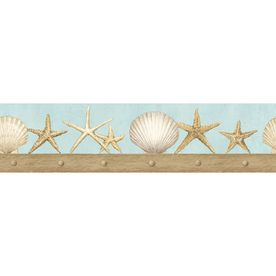 Imperial 4 3 4 Seashell Prepasted Wallpaper Border Wallpaper Borders For Bathrooms Wallpaper Border Butterfly Wallpaper Border
