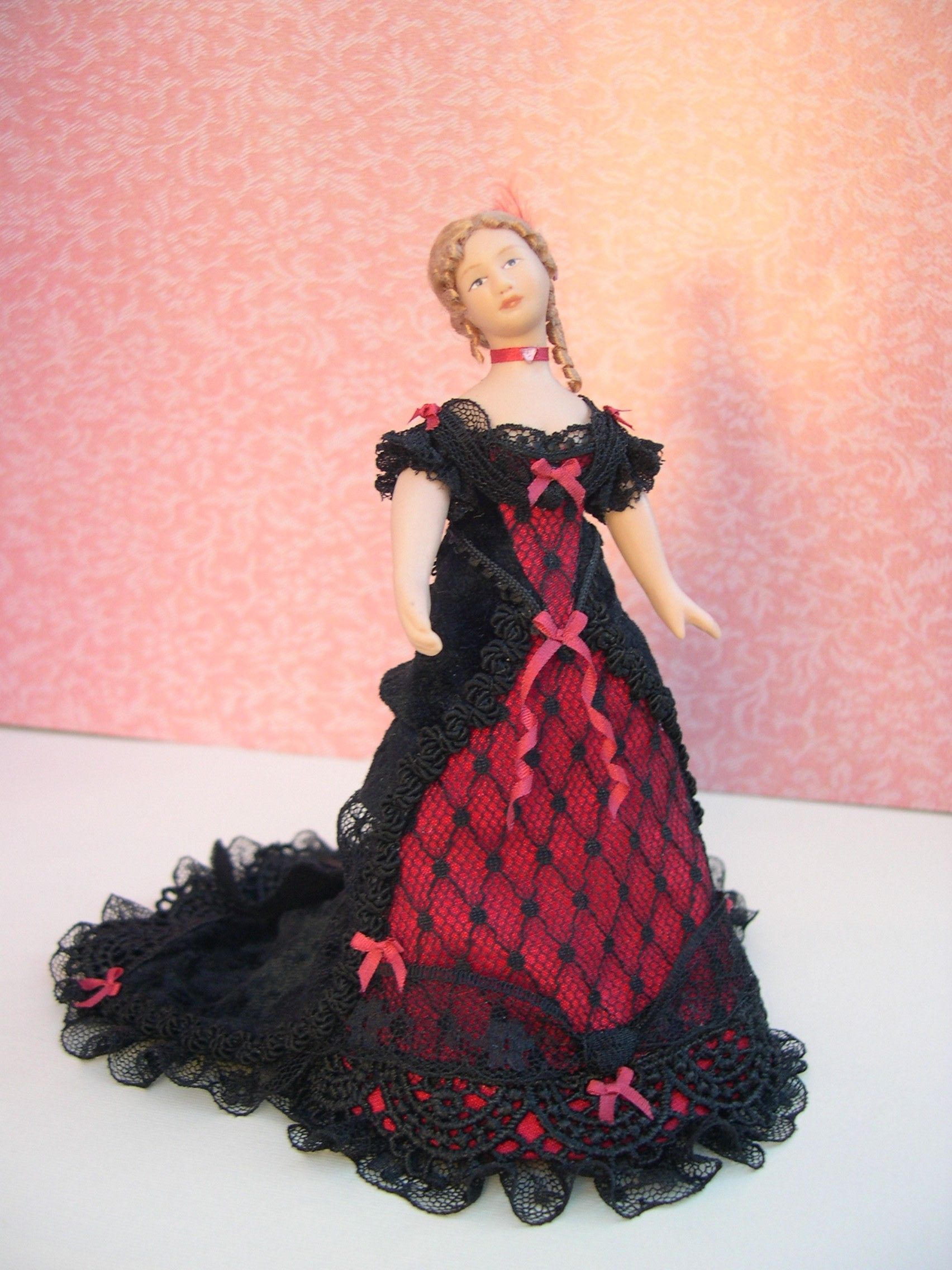 Muñeca porcelana vestido de fiesta | Mis creaciones en vestidos ...