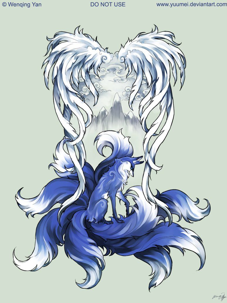 9 Tailed Fox Tattoo Commission By Yuumei On Deviantart Fox Tattoo Fox Tattoo Design 9 Tailed Fox