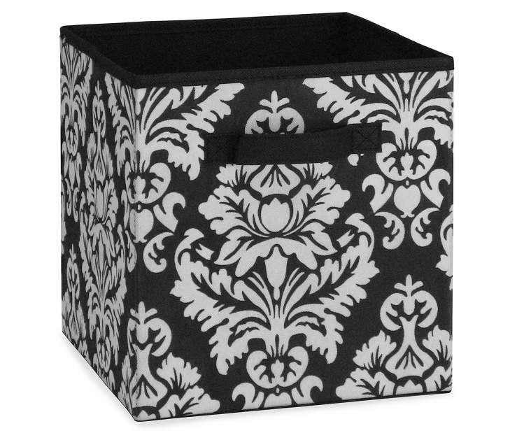 Damask Fabric Bin Fabric Bins Damask Home Storage Solutions
