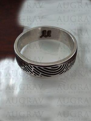 53a3b5e80b Customized Fingerprint Engagement Ring
