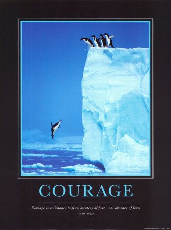 Courage Penguins Click to buy this Animal Motivational Poster