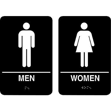 Marking Products Inc ADA Restroom Signs MenWomen Sign - Women's bathroom sign for bathroom decor ideas