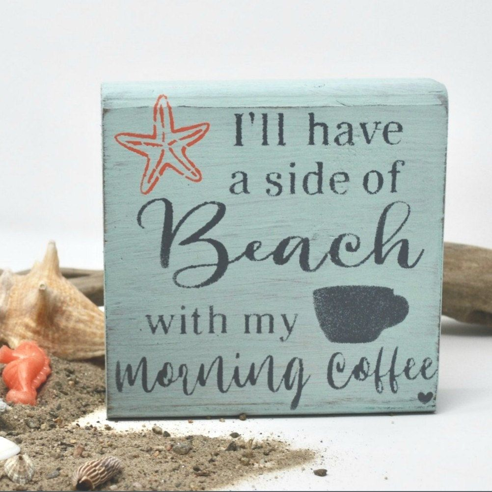 Beach Signs Coffee Sign Retirement Gift for Teachers Coffee | Etsy
