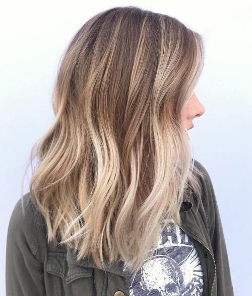 50 Ideen für hellbraunes Haar mit Highlights und Lowlights – Beste Frisuren Haarschnitte