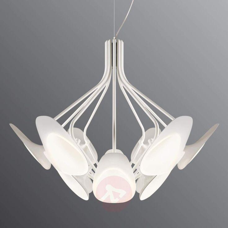 12-Punkt-Pendelleuchte LED PEACOCK, weiß – aradeo pl
