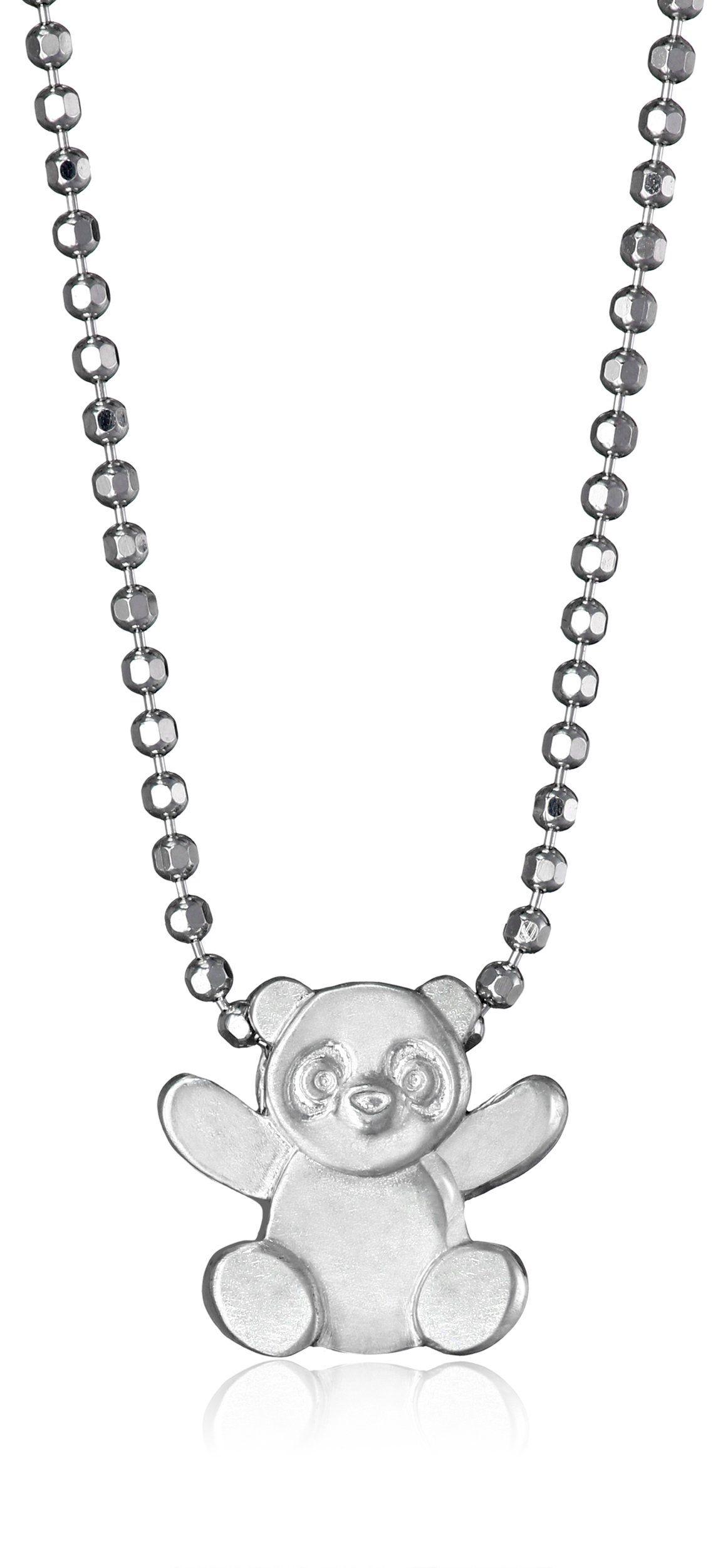 Alex Woo Little Panda In Sterling Silver Pendant Necklace Sterling