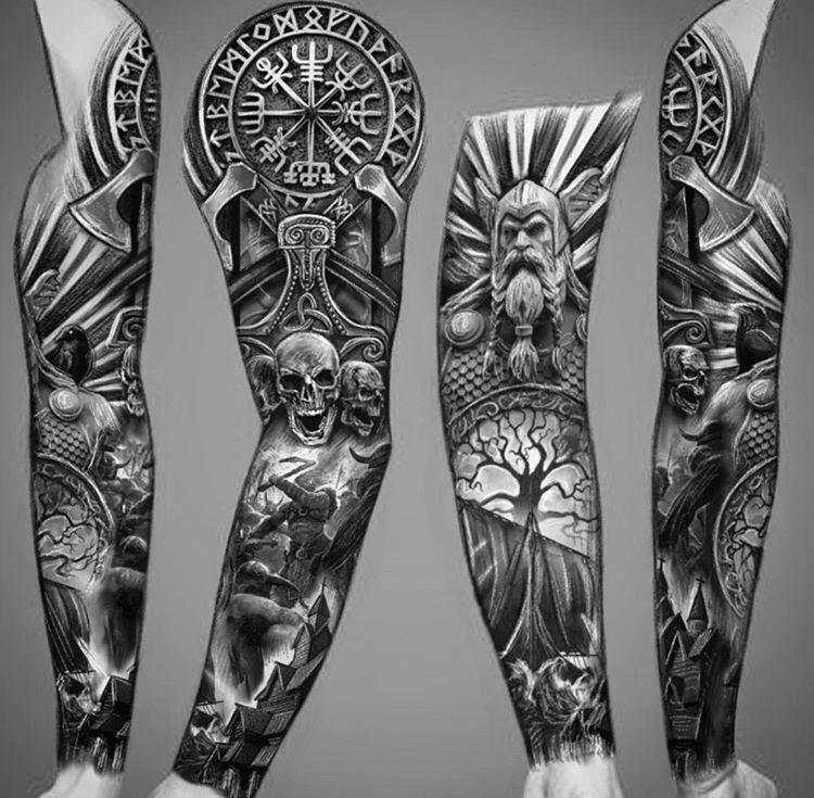 Pin By Benjamin Carey On Tattoos In 2020 Viking Tattoo Sleeve Viking Warrior Tattoos Warrior Tattoos