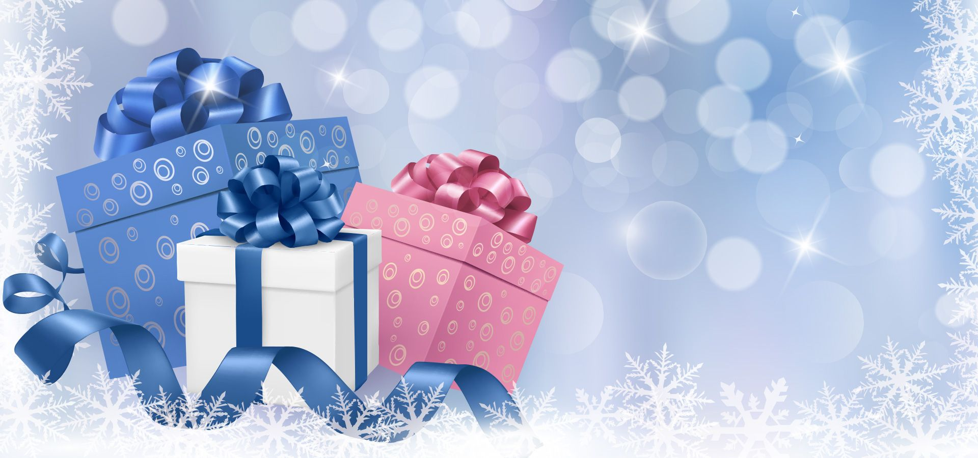 Christmas Gift Boxes Background Free christmas