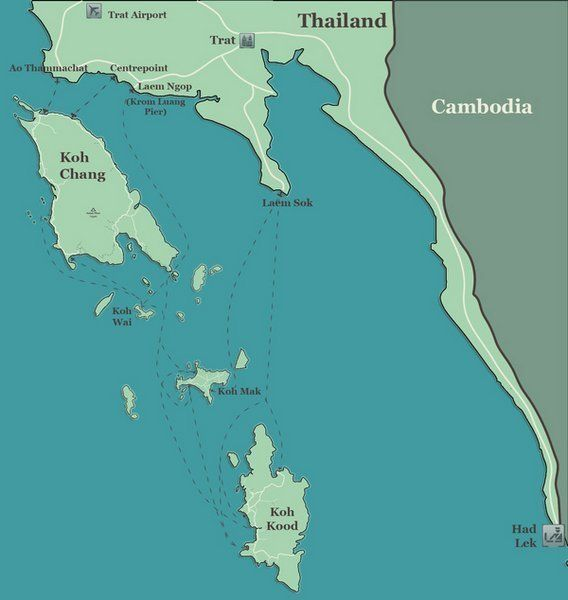 Koh Chang map with Koh Kood & Koh Mak, Thailand | Places been there ...