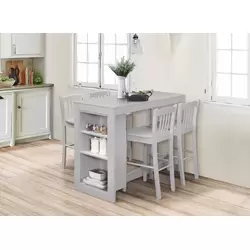 Susana 3 Piece Kitchen Island Set With Wood Top Counter Height
