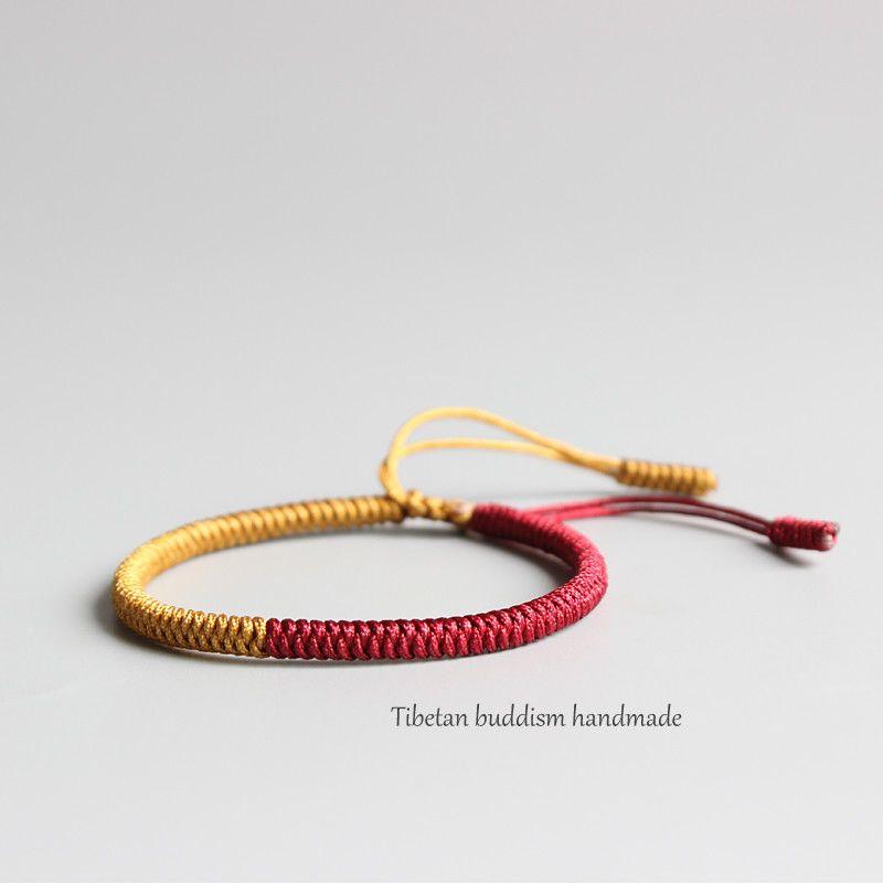 06a3949d9f Spirit Tibetan Buddhist Handmade Lama Braided Knots Lucky Rope Eastisan  Bracelet