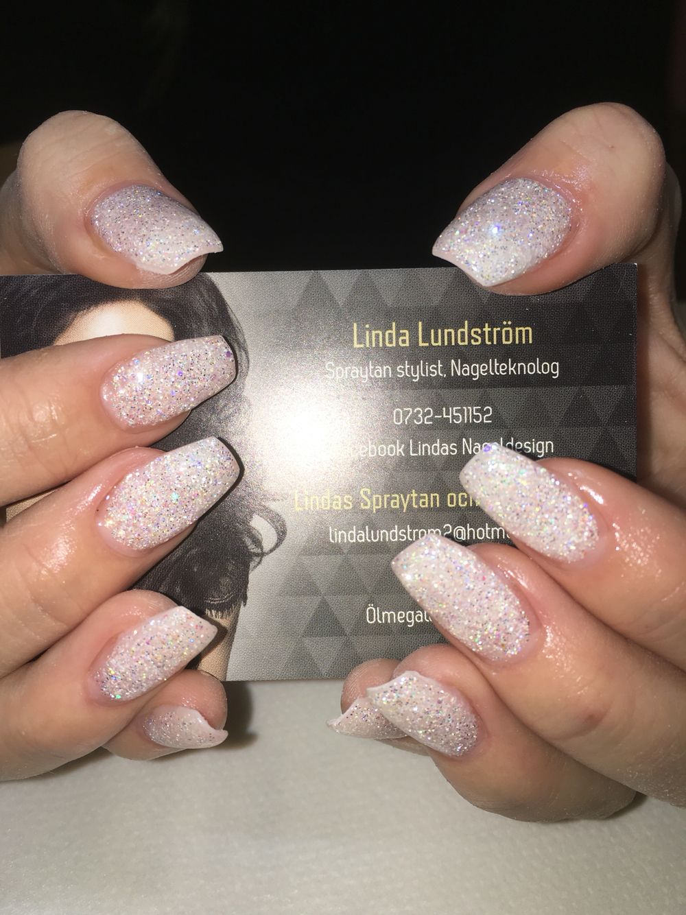 Diamond glitter naglar   Lindas nageldesign   Pinterest