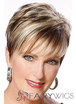 Short Hairstyles For Women Over 60 Straight Capless Short Remy Hair Wigs  Human Hair Wigs For White