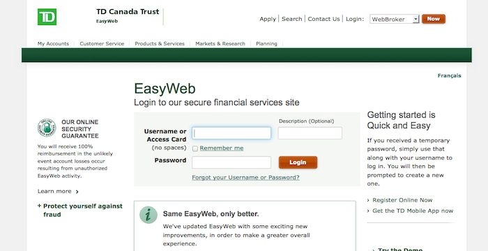 Top 10 Punto Medio Noticias | Td Bank Canada Trust Easyweb Login