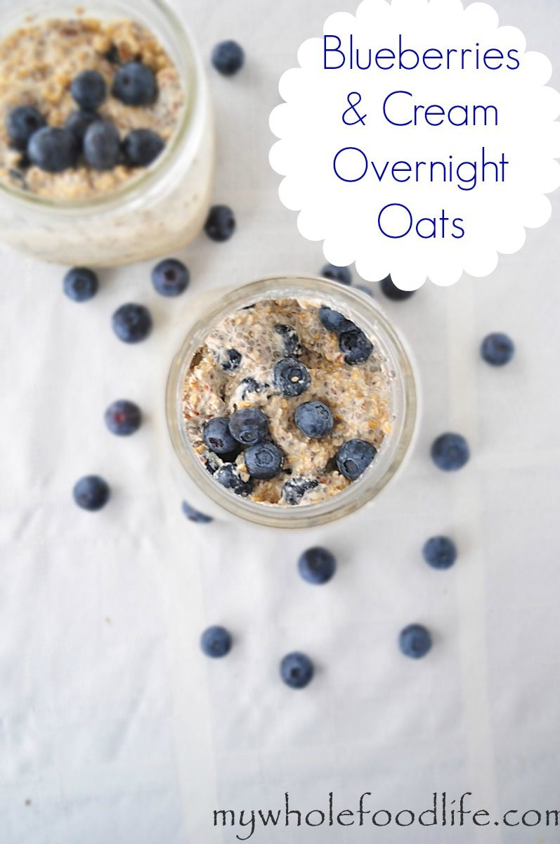 Blueberries and Cream Overnight Oats (GF)