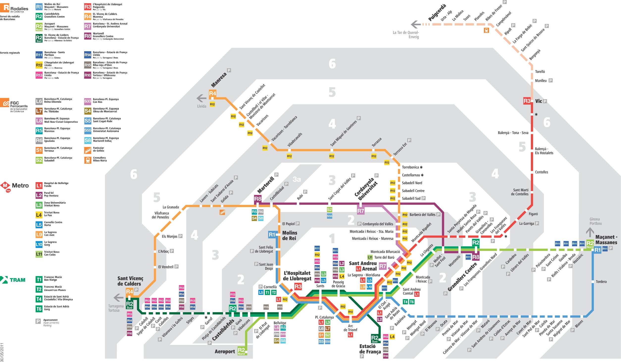 Renfe Map Barcelona Renfe   Map of Rodalies Barcelona | adventure, next | Barcelona