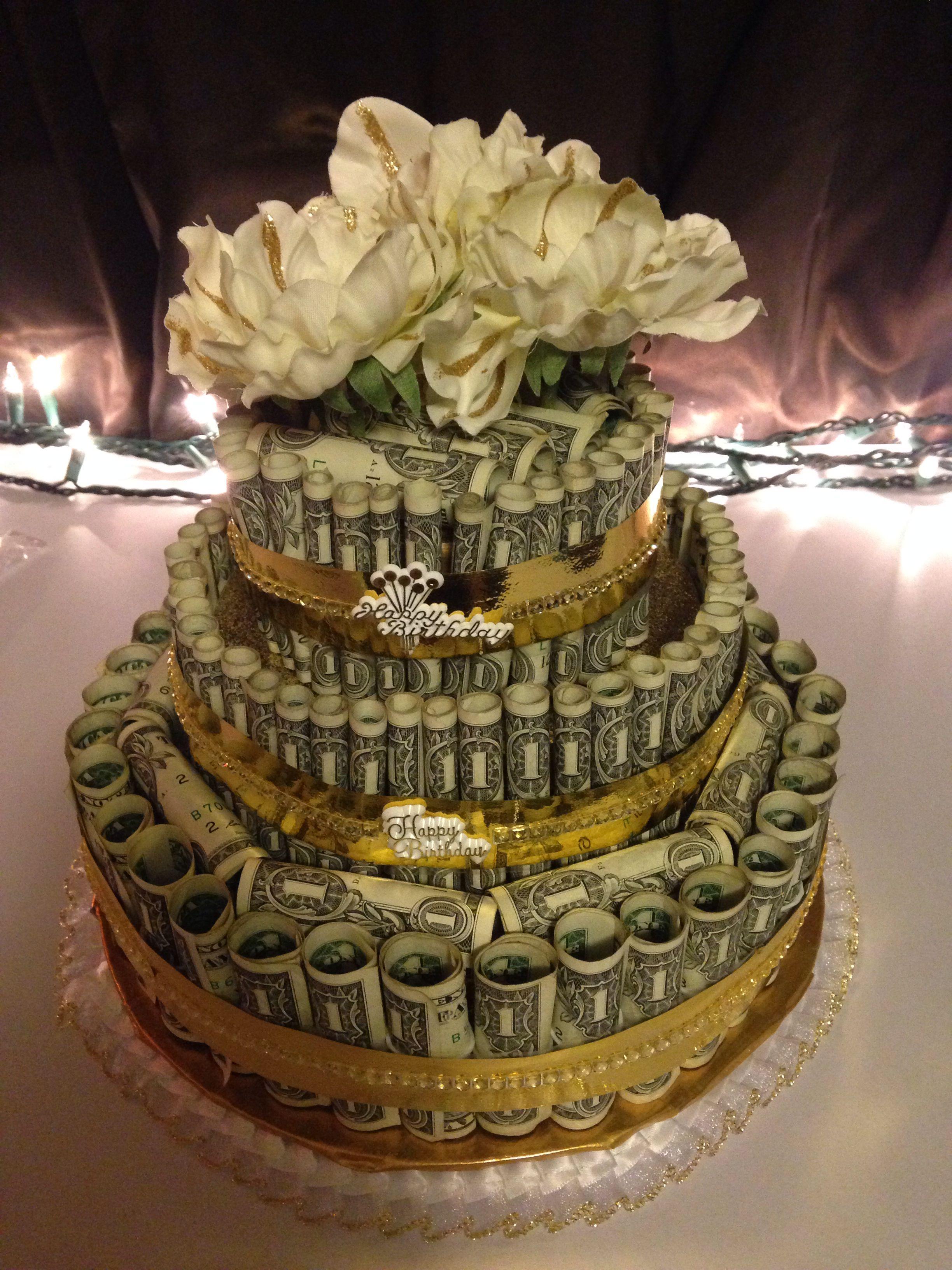 Awesome Money Cake Money Birthday Cake Money Cake Gift Cake Personalised Birthday Cards Veneteletsinfo