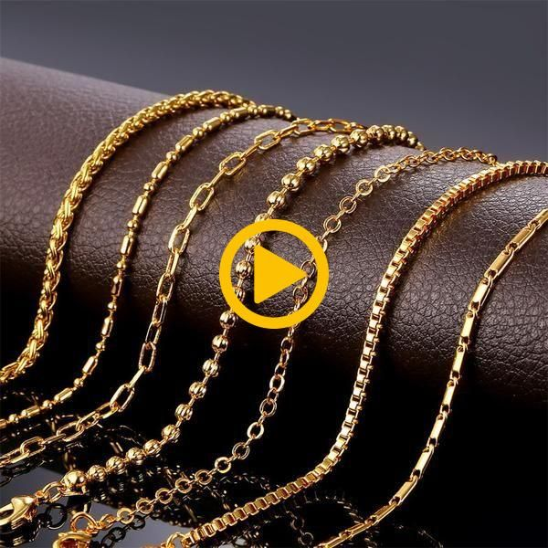 Charm Chian Necklace for Women: Wheat/ Bead/ Rolo/ Box Chains Charm Chian Necklace for Women: Wheat/ Bead/ Rolo/ Box Chains