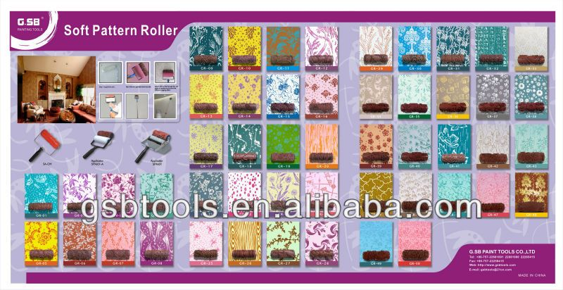 Decorative Pattern Paint Roller Gr 39   Buy Gr 39 Paint Roller,Soft Pattern  Roller,Pattern Paint Roller Product On Alibaba.com