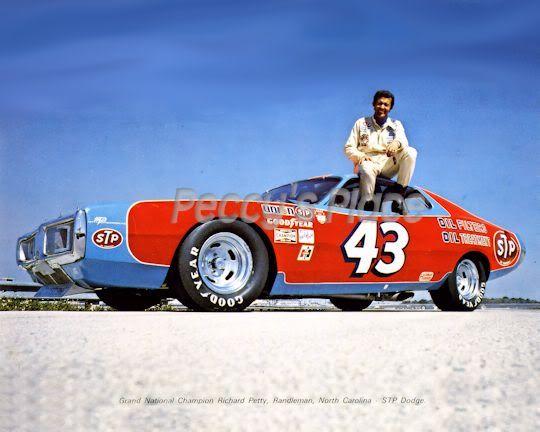 Vintage Nascar 1974 Richard Petty Dodge Charger 43 The King 8 X 10 Nascar Race Cars Richard Petty Dodge Charger