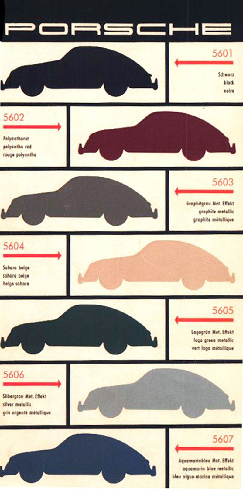 small resolution of porsche 356 color chart