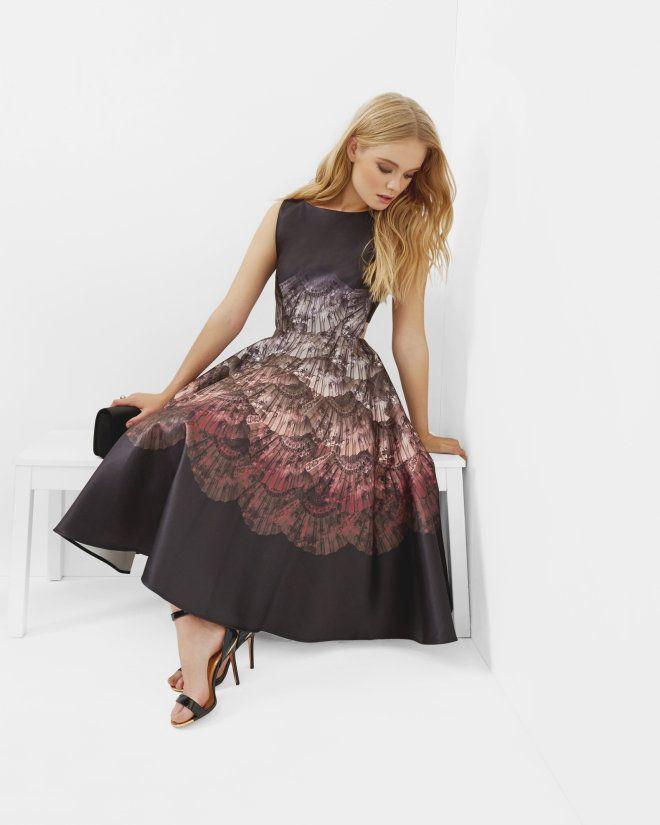 cbd3dc4d787d6 Fan Ombré cut-out dress - Black
