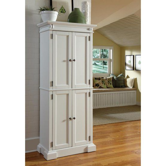 Home Styles Americana White Pantry   Kitchen cabinet ...