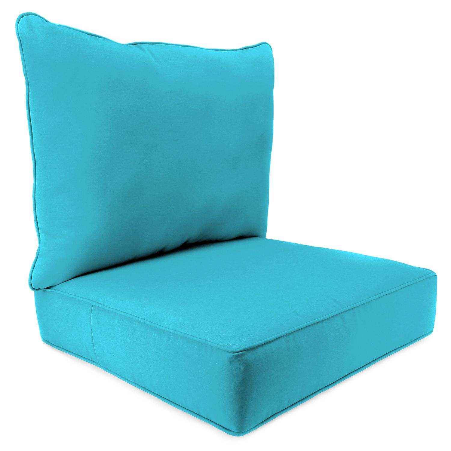 2 Piece Deep Seating Chair Cushion Various Colors
