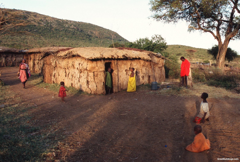 Maasai house · kenya africa
