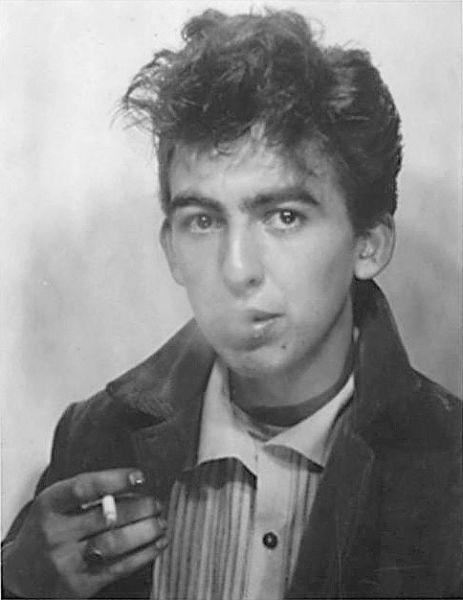 Teddyboy George Harrison, Liverpool, 1957.