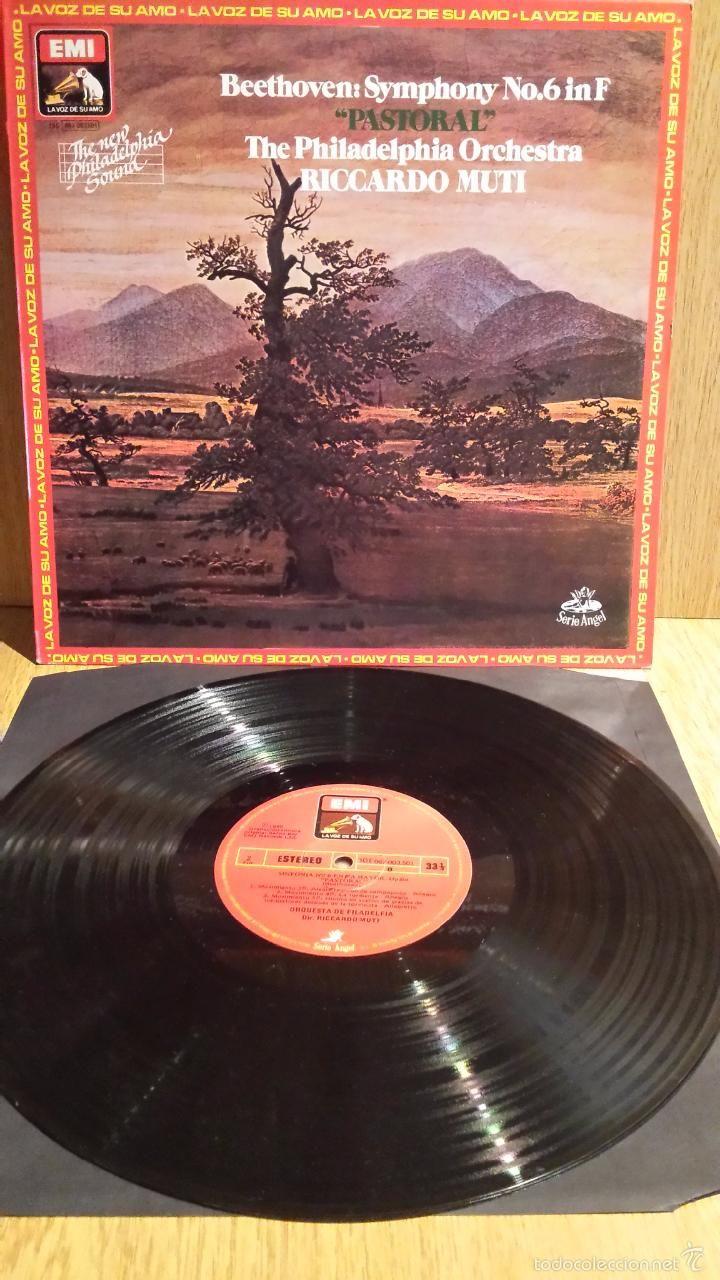 BEETHOVEN. SYMPHONY Nº 6 IN F - PASTORAL - LP / EMI-1980 / SERIE ANGEL. ***/***