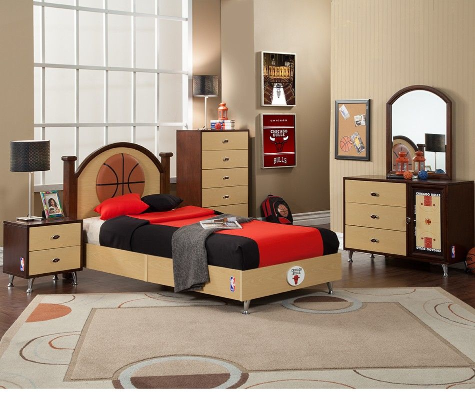 NBA Basketball Chicago Bulls Bedroom In A Box Have A Basketball Nut In The  Family? Proclaim Your Team Spirit With This Bedroom Set Made Strictly For  Your ...