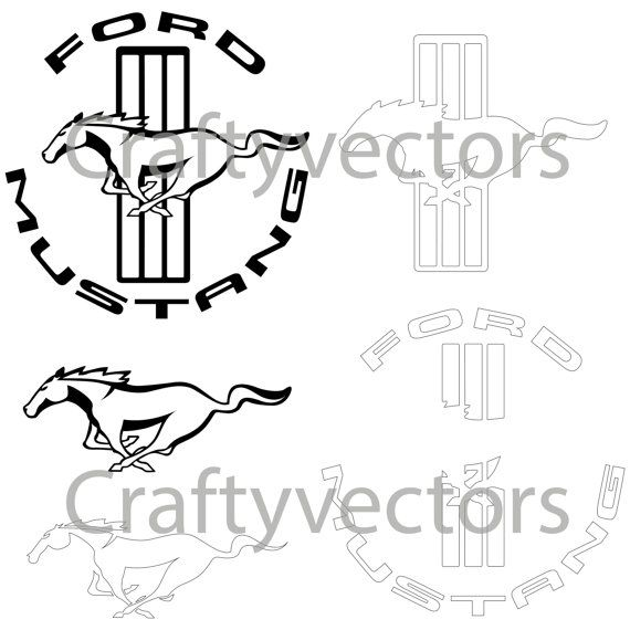 Ford Mustang Logos Vector With Images Mustang Logo Ford