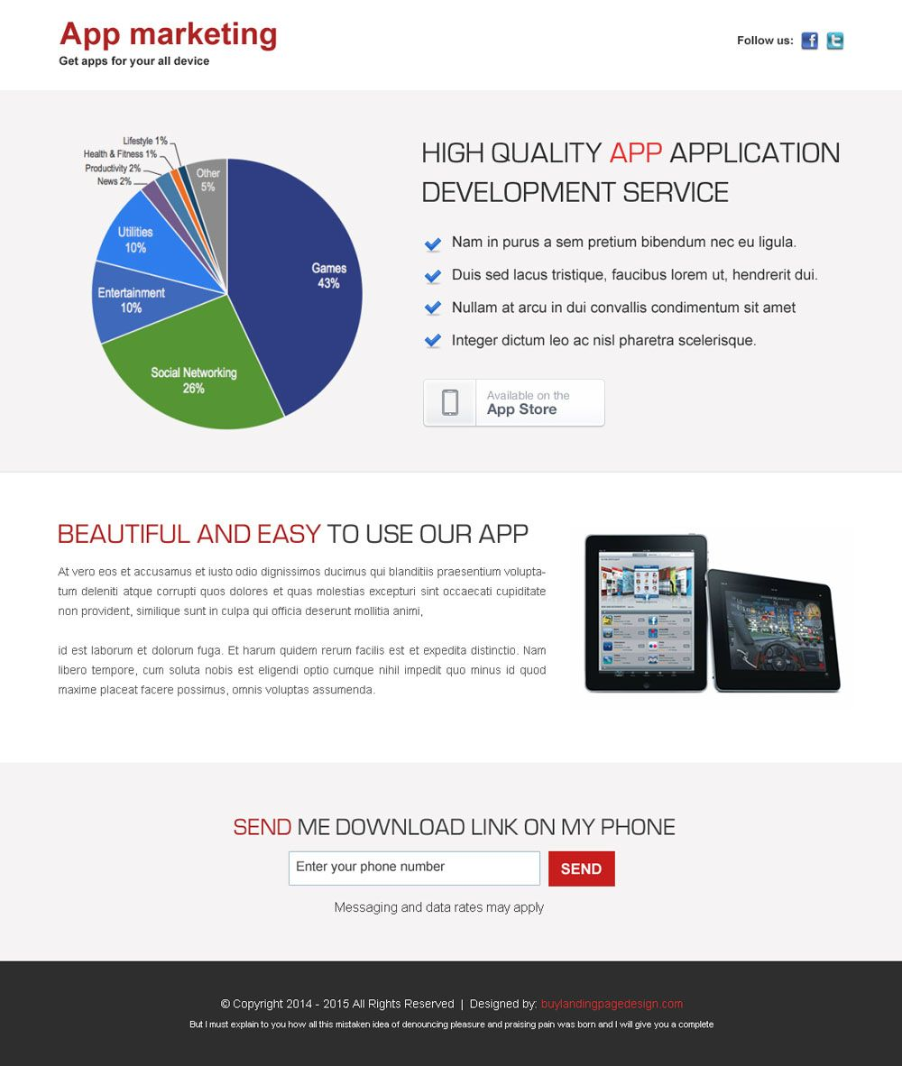 high quality business marketing application development